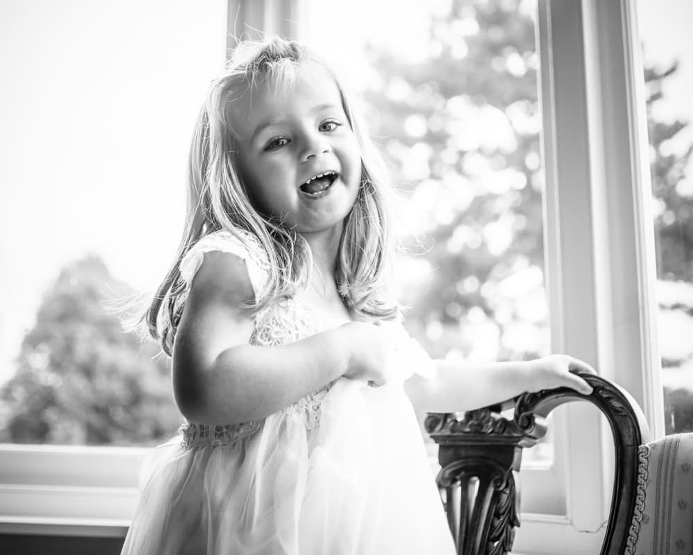 Cute flowergirl, Sheffield wedding photographers