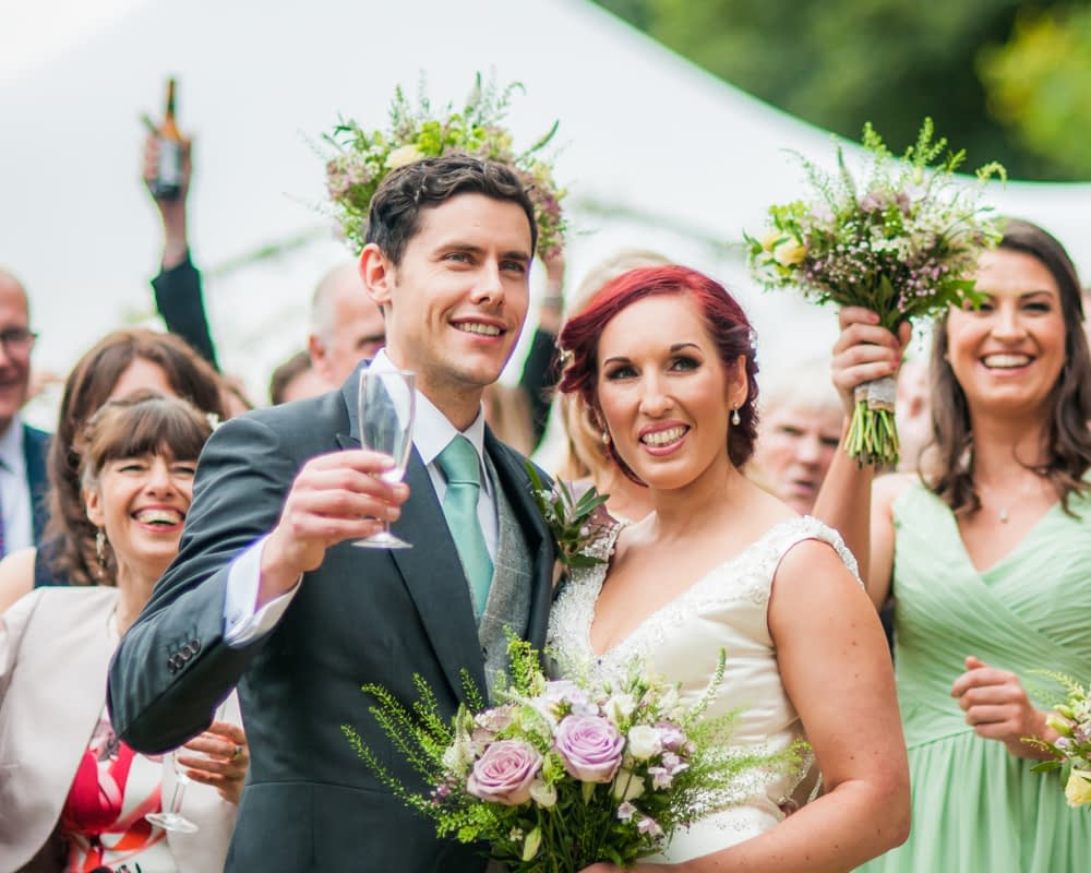 Cheers, Sheffield wedding photographers
