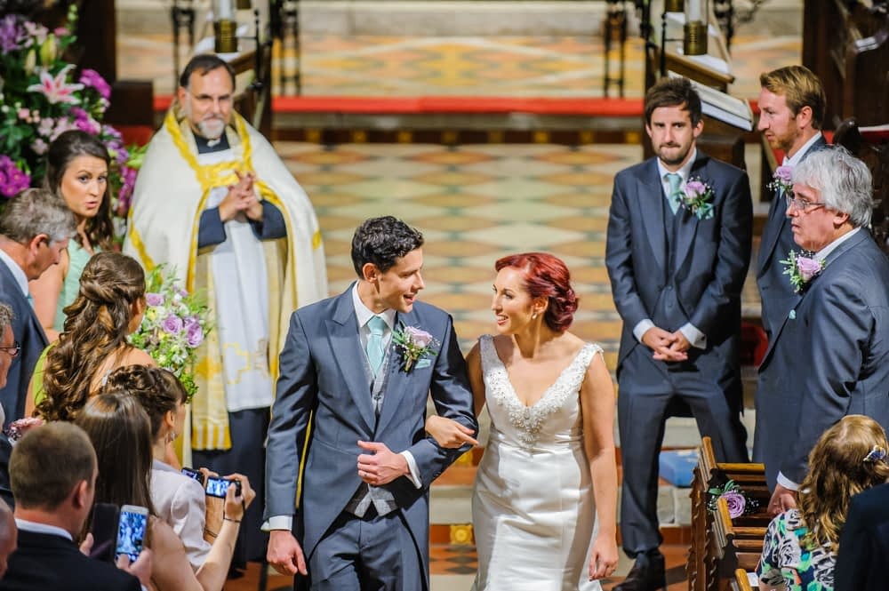 Walking down aisle, Sheffield wedding photographers