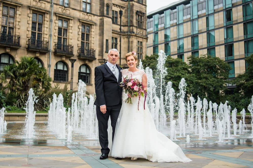 Peace Gardens fountain, Sheffield town hall weddings