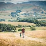 Paul and Albert walking up Binsey, Lake District photographers