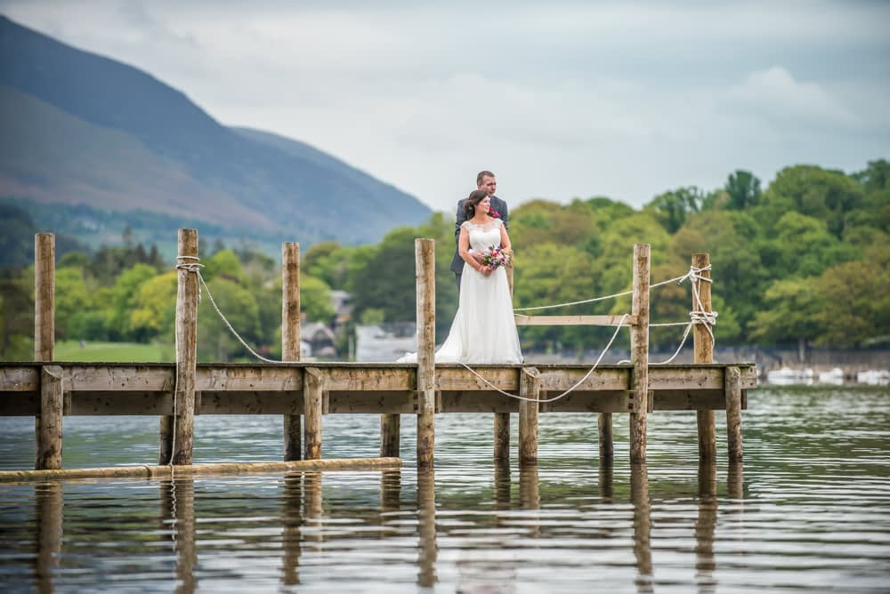Derwent jetty, Lingholm wedding, Lake District