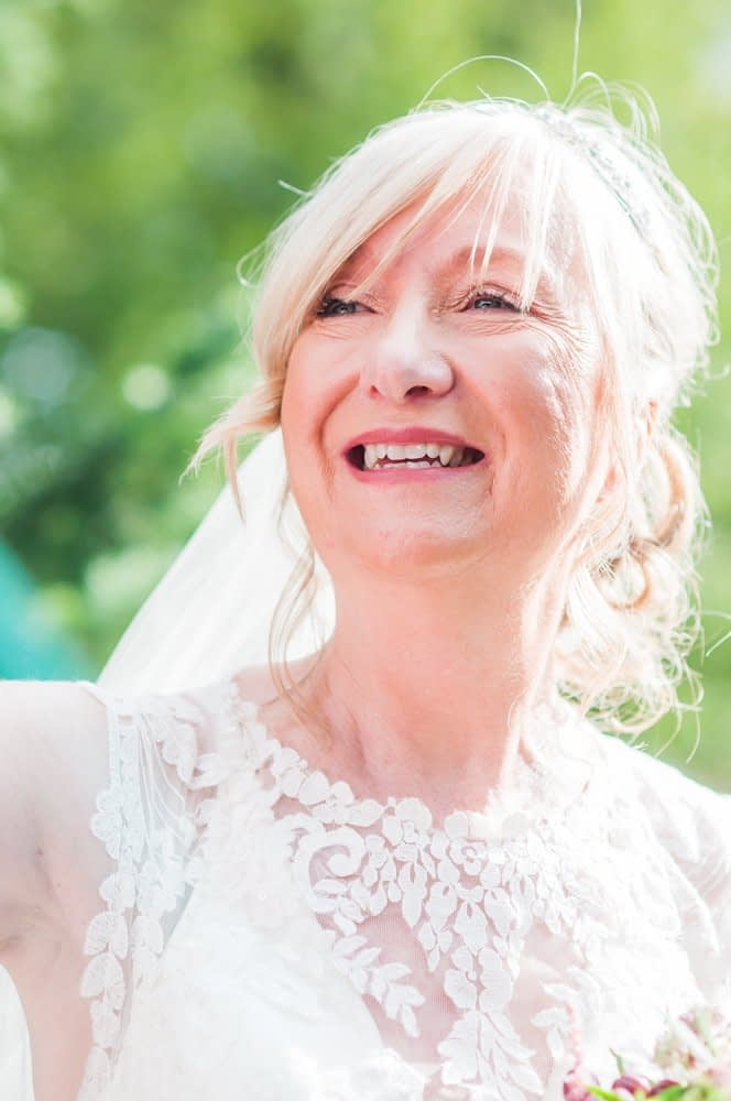 Smiling bride,  Hotel Van Dyk wedding photography Chesterfield