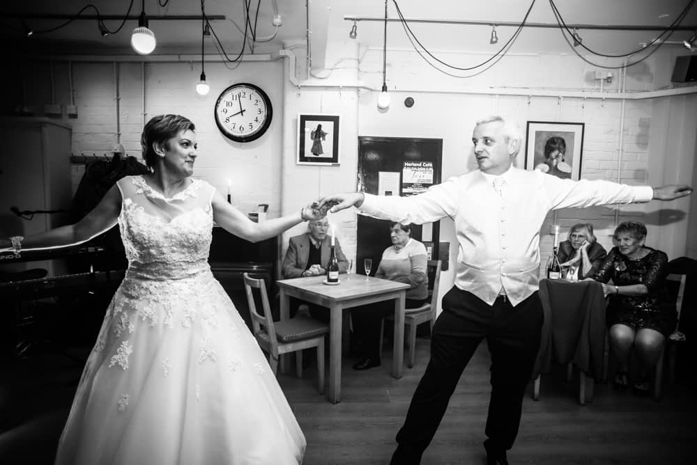 First dance routine, Harland Cafe, Sheffield