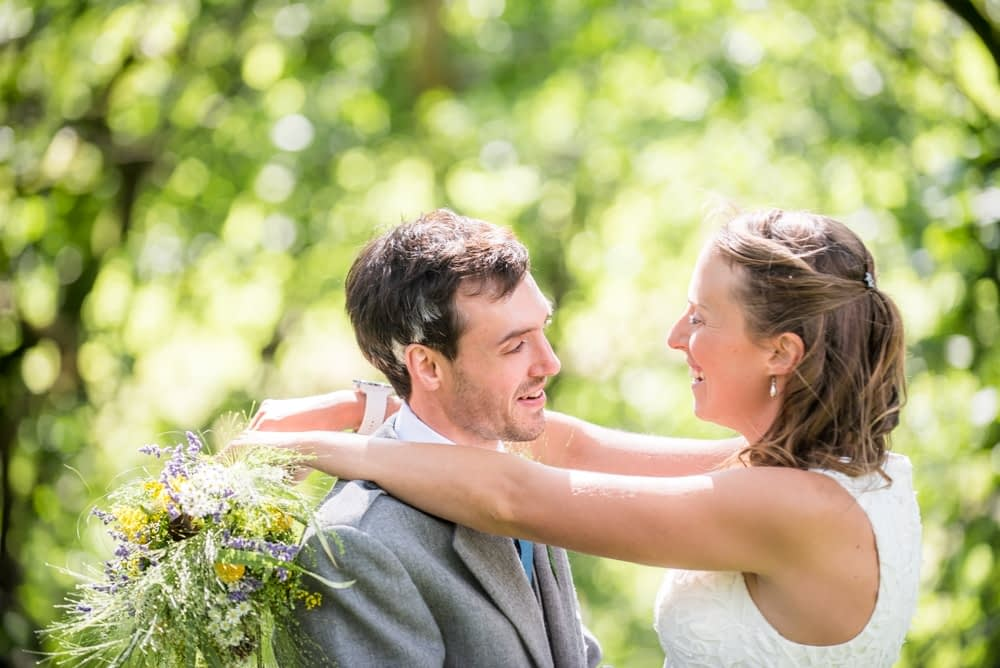 In the woods, Howgills wedding, Sedbergh, Lake District wedding photographers