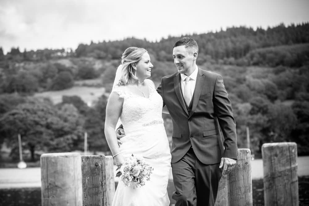 Liane and Daniel walking by the Lake, Windermere elopement weddings