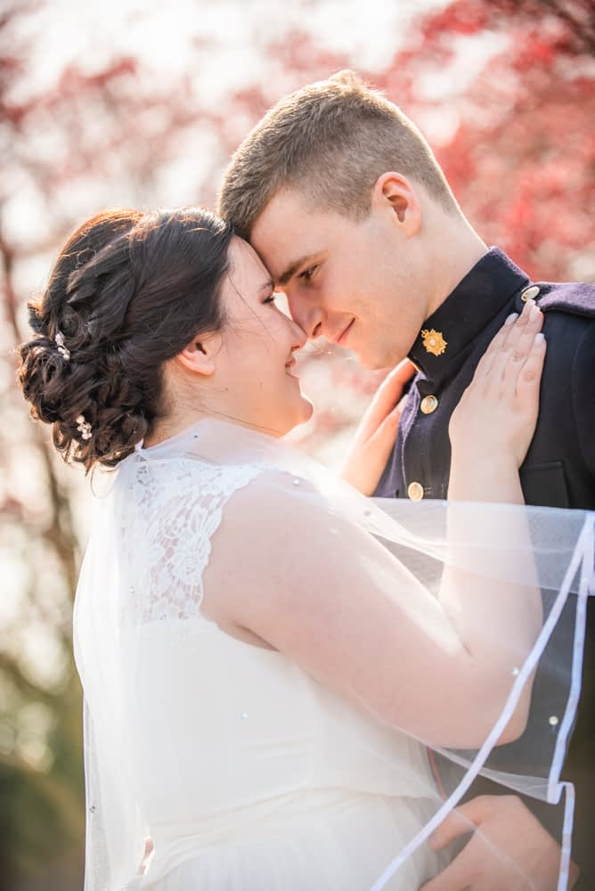 Bride and groom staring into each others eyes, Gretna Green wedding photographer