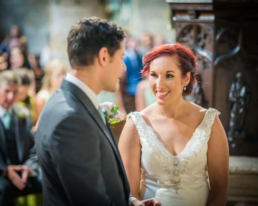 Exchanging, vows, Sheffield wedding photographers