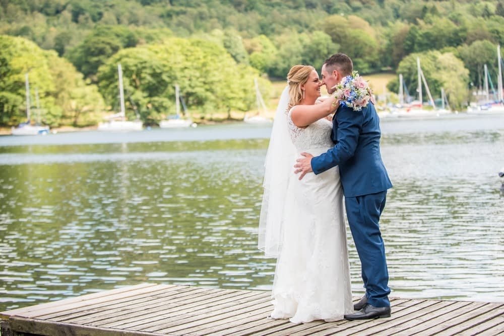 The look of love, Lakeside weddings, Windermere wedding portraits