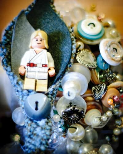 Star Wars lego buttonhole, Whirlowbrook Hall weddings Sheffield