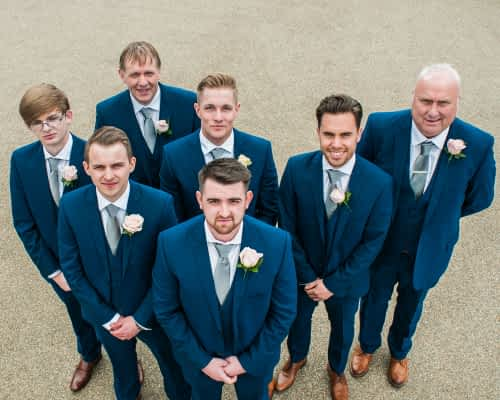 Groomsmen photo from above, Casa Hotel wedding photography