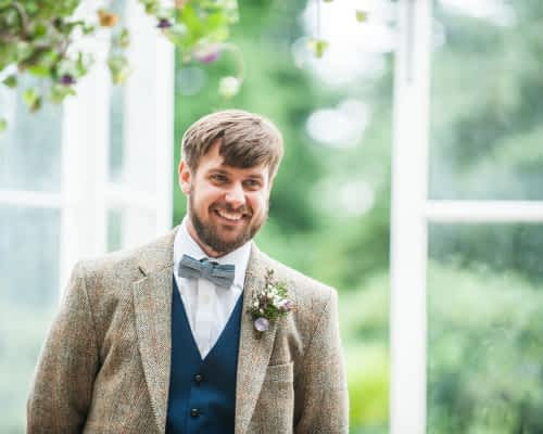 Groom waiting for bride, Sheffield wedding photographers