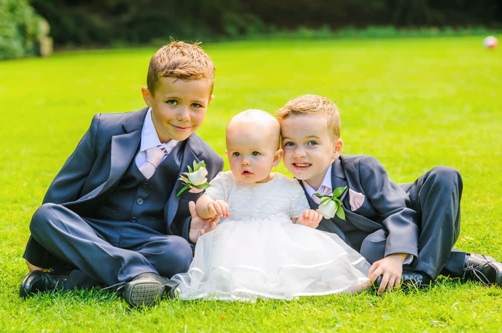 Bride and groom's children, Whitley Hall weddings, Sheffield wedding photographers