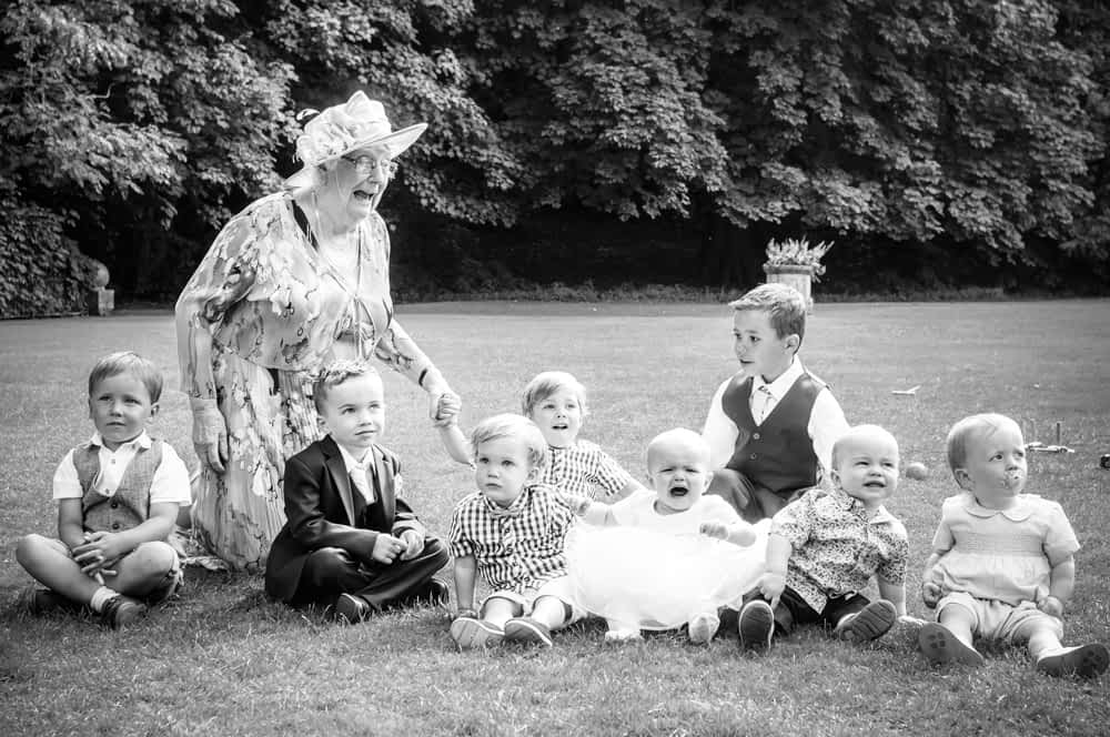 All the grandchildren and granny, Whitley Hall weddings, Sheffield wedding photographers