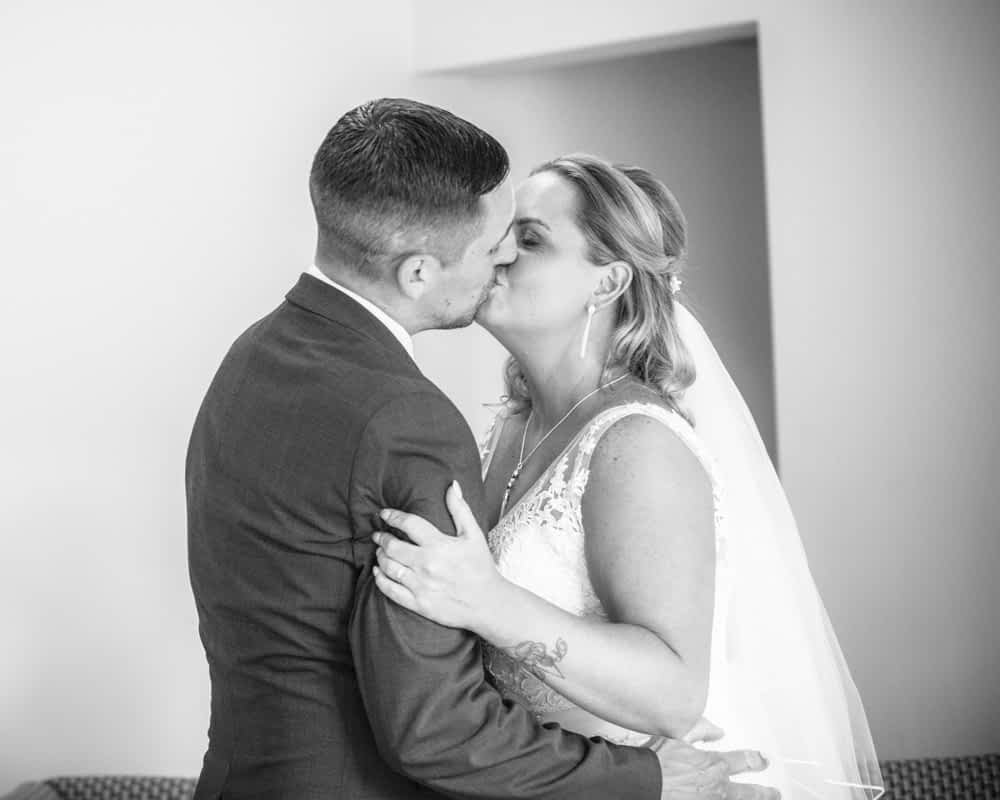 First kiss, Lake District wedding photographers