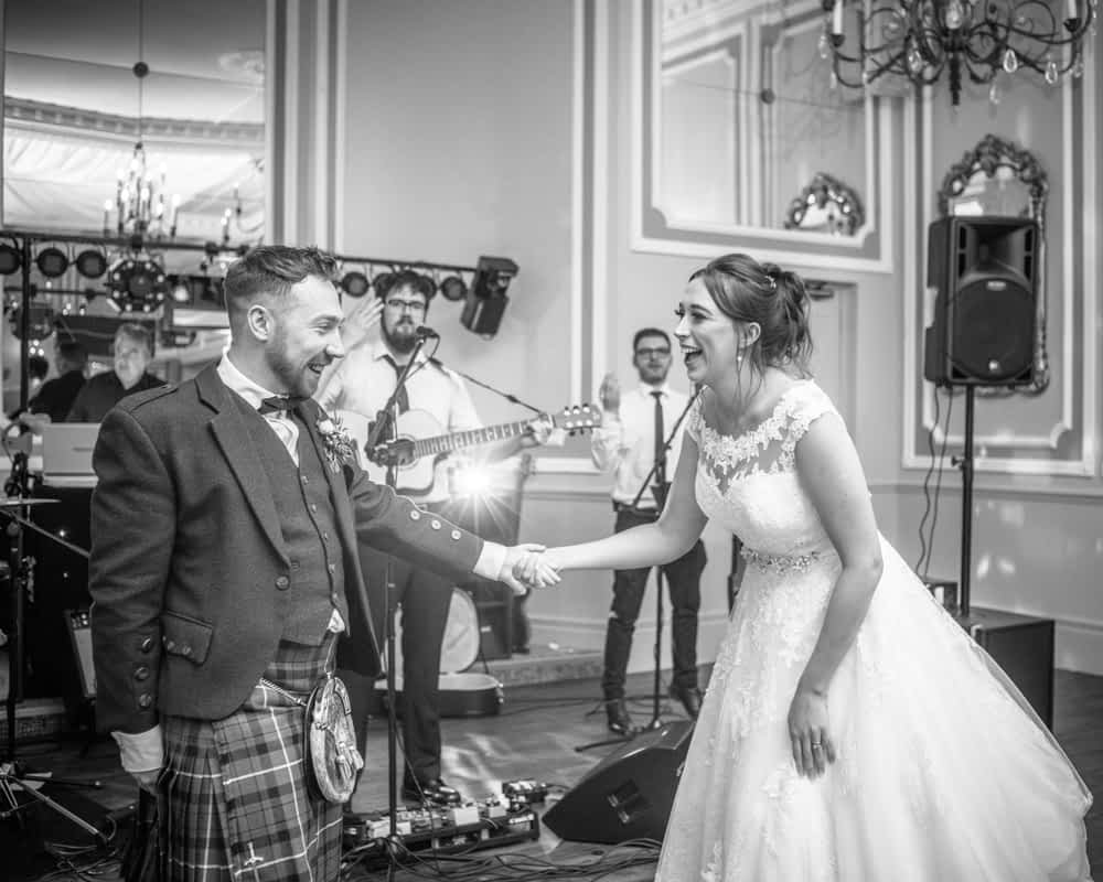 First dance kicks off, Sheffield wedding photographers, Ringwood Hall Hotel