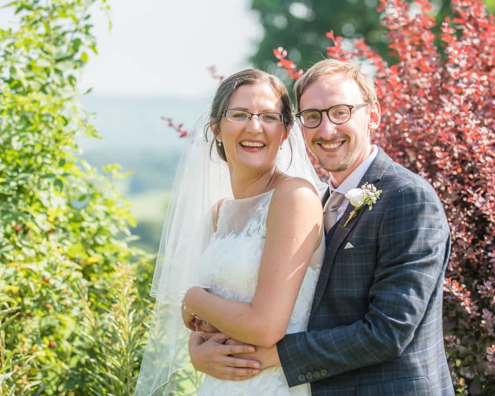 Tickling the bride, Shireburn Arms, Lancashire wedding photographers